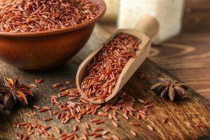 makanan berserat beras merah